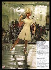 1969 Cher in blonde wig? photo Quintess Kasper Joan Leslie dress vintage ad