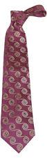 "MENS 100% Premium Silk Classic Tie Purple Blue Gold Spiral 9cm 3.5"" 58"" Long"