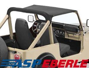 Strapless Bikinitop schwarz Softtop Verdeck Jeep CJ7 Bj. 80-86