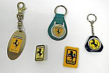 Schlüsselanhänger Ferrari 3 Stück + 1 Anstecker + 1 Aufnäher badges Pin Keyring