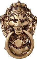 Antique Brass Lion Head Bronze Door Knocker Figure Doorbell Cast Bells Vintage