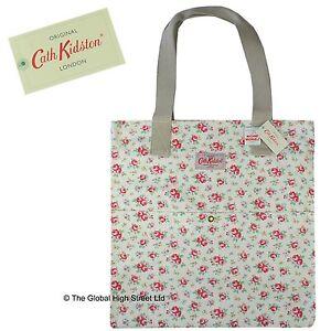 Cath Kidston Cotton Tote Bag - Kensington Rose (white) CLEARANCE BARGAIN