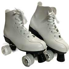 Women's Roller Skates Double Row Skates Adjustable Leather High-top Bag Size 12