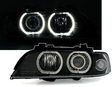 2 FEUX PHARE AVANT ANGEL EYES LED BLANC BMW SERIE 5 E39 PHASE 1 95-2000 LOOK F10
