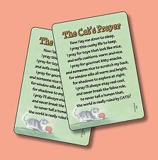 """The Cat's Prayer"" - 2 Humorous Verse Cards - sku# 845"