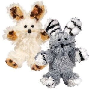 KONG Softies Fuzzy Bunny Catnip Cat Toy