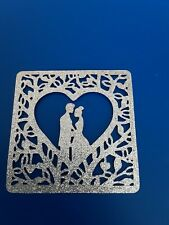 Bride And Groom Silver Card Die Cuts/ Wedding Card Invite Making