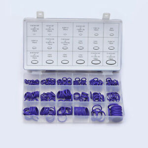 270pcs AC A/C System O-Ring Seals Oring Air Conditioning Rapid Seal Kit Purple