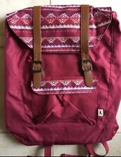 NWT HOLLISTER Co. Buckle Backpack Book Bag Maroon Red