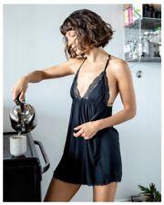 XS Brand New Still in Packaging Journelle Black Chemise Dress NWT Lacy Lingerie