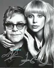 ELTON JOHN LADY GAGA REPRINT AUTOGRAPHED 8X10 SIGNED PICTURE PHOTO COLLECTIBLE