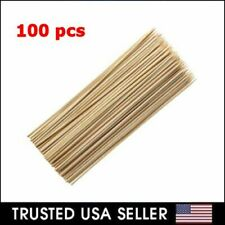 "100 Pcs 12"" inch Bamboo Skewers Wooden BBQ Sticks for Shish Grill Kabobs LOT"