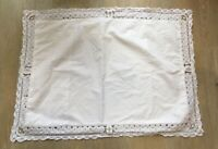 Vintage French Lace Pillow Case Cushion Cover White Embroidered Tape Lace