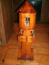 Vintage Very Nice RARE Tall Hand Made Wood Lighthouse Lamp