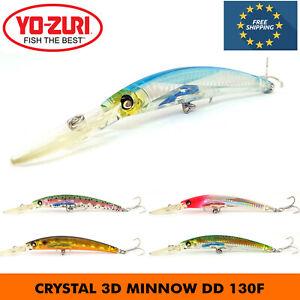 YO-ZURI CRYSTAL 3D MINNOW DD 130F FLOATING UV ATTACK FISHING HARD BAIT LURE