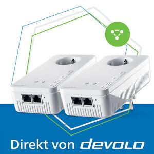 devolo Mesh WLAN 2 Powerline 2400 Mbps WiFi Verstärker 2.4 und 5 GHz 2x Adapter