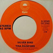 "Tina Rainford Silver Bird Jukebox Strip & EX 45 7"" Vinyl Extra 45's Ship Free"
