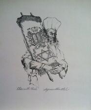 "Seymour Rosenthal (1921-2007) Original Ink Drawing  titled ""Elder with Torah"""