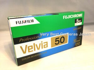5 Rolls FUJIFILM VELVIA 50 in 120 Color Roll Film 6x9 6x8 6x7 6x6 6x4.5 FRESH