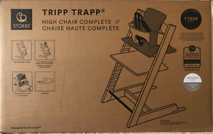 Stokke Tripp Trapp Complete Baby High Chair with Baby Set Harness Cushion & Tray