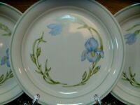 "SET OF 4 - CORNING CORELLE - CORNERSTONE - IRIS - 8 1/2"" LUNCHEON PLATES - EUC"