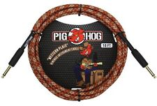 "Pig Hog Instrument Cable Western Plaid 1/4"" to 1/4"" Right Angle 10 ft. Western P"