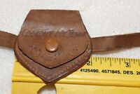 Vintage Smoky Mountains Snap Close Tiny Coin Purse Leather w/ buckle straps