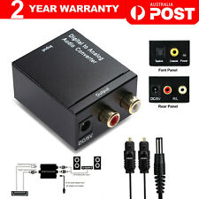 Digital Optical Coax Coaxial Toslink to Analog Audio Converter Adapter DAC RCA