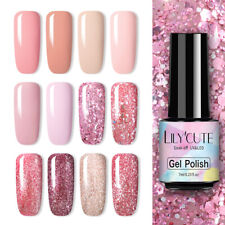 LILYCUTE Rose Gold Gel Polish UV LED Nail Art Glitter Sequins Varnish Soak Off