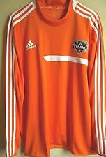 MLS Adidas Houston Dynamo Soccer Long Sleeve Mock Training Pullover XL NWT 3726A