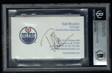 Todd McLellan signed autograph Business Card Edmonton Oiliers Head Coach BAS