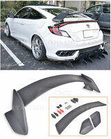 For 16-Up Honda Civic Coupe JDM Type-R PRIMER BLACK Rear Trunk Lid Wing Spoiler