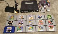 Nintendo 64 N64 Bundle Lot Games Good Complete Set-Up! TESTED CLEAN