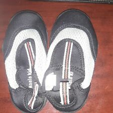 Koala Kids Swim Shoes Toddler Size 6 Black and Gray with Red Stripe