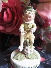 RETIRED! Cicely Mary Barker POPLAR FAIRY Flower Fairy Figurine On Base NEW!