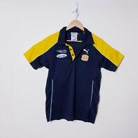 West Coast Eagles Football Club AFL WCE Mens Size M Medium Puma Polo Shirt