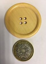 Large Giant Wooden Buttons 50mm / 5cm Pack Of 4