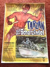 Tarzan auf der Schatzinsel Kinoplakat Poster A1, 1966, Hermann Brix, Jill Martkn