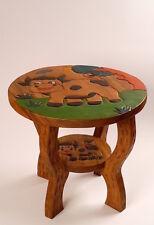 Kinder Tisch aus Holz, H: 44cm, ∅ 50cm ,Kuh, Sitzgruppe, Kita, Sitzkreis, Hocker
