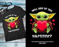 Will You Be My Valentine Shirt, Cute Baby Yoda Tshirt, Couple Shirt Gift