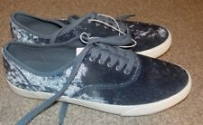 MENS MOSSIMO NEW DECK SHOES MATALIC BLUE MENS SIZE 10
