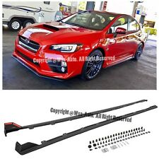For 15-Up Subaru WRX STI JDM Style Rocker Panels Side Skirt Extension Kit