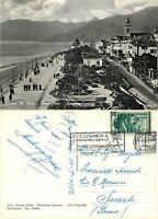 Cartolina di Bordighera, lungomare - Imperia, 1952