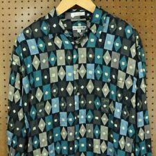 1990s Shirt Button Down Rayon Short Sleeve Pierre Cardin Large Shirt