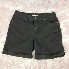 Canyon River Blues Shorts Size 10 Black Cuffed Stretch Pockets High Rise