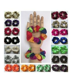 2 x SMALL VELVET SCRUNCHIE (child / thin hair) - Choice of Colour *MADE IN UK*