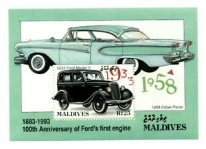 VINTAGE CLASSICS - Maldives 1917 - Anniversary of Ford's 1st Engine - S/S - MNH