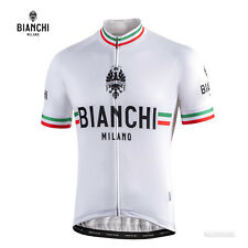 NEW Bianchi Milano ISALLE Short Sleeve Cycling Jersey : WHITE