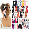 Elastic Ponytail Scarf Bow Elastic Hair Rope Tie Scrunchies Ribbon Hairtie Bands