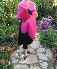 "NWT •MOHAIR SHAWL •Papagena, Ile de Re, Paris•Gingembre France•41"" x 25""•FUCHSIA"
